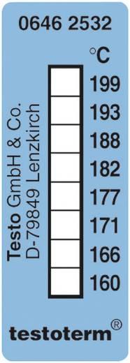 Öntapadós, felragasztható hőmérőcsík, 50 x 18 mm, 161/169/172/177/184/189/197/204 °C-ig Testo Testoterm