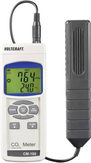 Széndioxid CO2 mérő, levegőminőség mérő kéziműszer Voltcraft CM-100