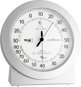 Szobai levegő hőmérő, analóg hőmérő és páratartalom mérő TFA Dostmann 45.2020 TFA Dostmann