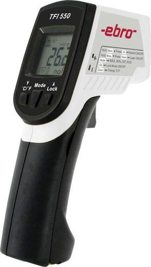 Infra hőmérő pisztoly, kettős lézeres célzóval 30:1 optikával -60-től +550 °C-ig ebro TFI 550