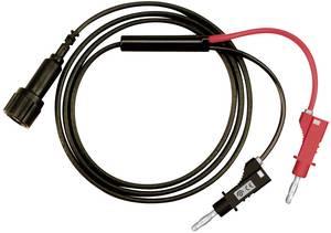 BNC - banándugó mérőzsinór, (BNC aljzat - 4mm-es banándugó 2db) 1m, 50 ohm-os, fekete, piros, Testec Testec