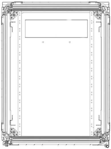 19-os rack szekrény, hálózati szerverszekrény, zárható üvegajtóval, fekete 42 HE LogiLink D42S68B