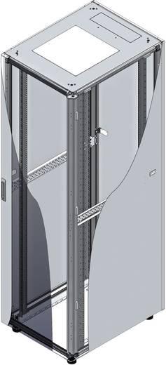 19-os rack szekrény, hálózati szerverszekrény, zárható üvegajtóval, fekete 22 HE LogiLink D22S66B