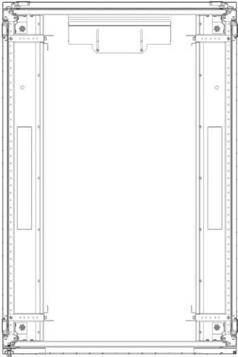 19-os rack szekrény, hálózati szerverszekrény, zárható üvegajtóval, szürke 26 HE LogiLink S26S61G