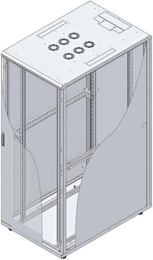 19-os rack szekrény, hálózati szerverszekrény, zárható üvegajtóval, fekete 42 HE LogiLink S42S81B