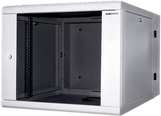 19-os fali rackszekrény, hálózati szerverszekrény, zárható ajtóval, szürke 12 HE LogiLink W12D67G