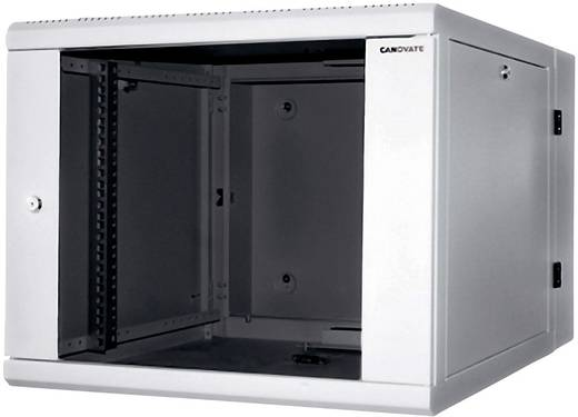 19-os fali rackszekrény, hálózati szerverszekrény, zárható ajtóval, szürke 21 HE LogiLink W21D67G