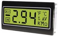 Digitális panelműszer, panelméter zöld háttérvilágítással 200mV 33x68mm TDE DPM962-TG TDE Instruments