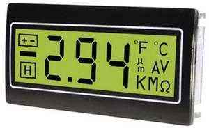 Digitális panelműszer, panelméter zöld háttérvilágítással 200mV 22,2x45mm TDE DPM961-TG TDE Instruments