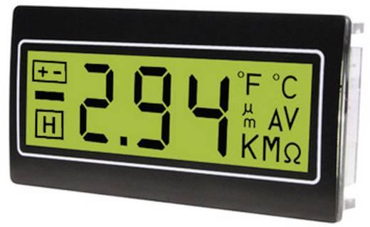 Digitális panelműszer, panelméter zöld háttérvilágítással 200mV 33x68mm TDE DPM962-TG