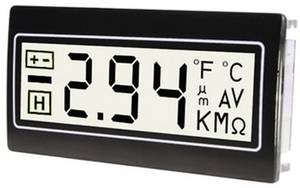 Digitális panelműszer, panelméter fehér háttérvilágítással 200mV 22,2x45mm TDE DPM961-TW TDE Instruments