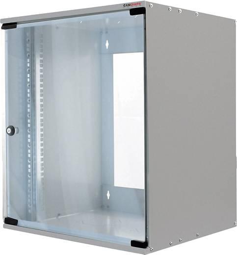 19-os fali rackszekrény, hálózati szerverszekrény, zárható ajtóval szürke 9 HE LogiLink W09H55G