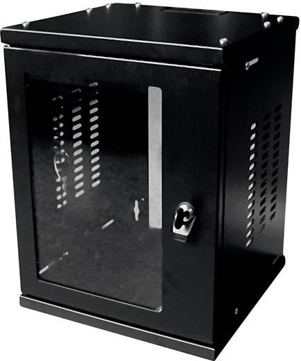 10-os zárható fali rackszekrény, fekete 8HE 312x300mm LogiLink W09Z33B