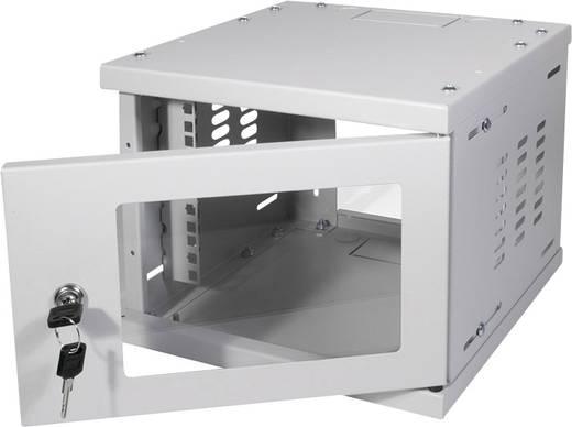 10-os zárható fali rackszekrény, szürke 4HE 312x300mm LogiLink W06Z33G