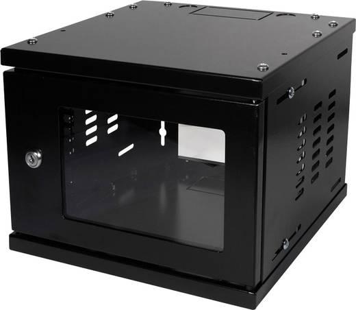 10-os zárható fali rackszekrény, fekete 4HE 312x300mm LogiLink W06Z33B