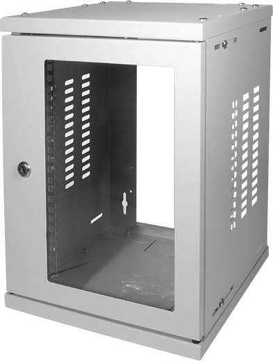 10-os zárható fali rackszekrény, szürke 8HE 312x300mm LogiLink W09Z33G