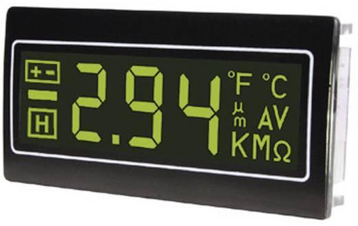 Digitális panelműszer, panelméter zöld számkijelzéssel 200mV 33x68mm TDE DPM962-NTG