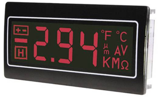 Digitális panelműszer, panelméter piros számkijelzéssel 200mV 33x68mm TDE DPM962-NTR