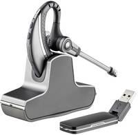 Plantronics Savi W430 Telefon headset DECT Vezeték nélküli, Mono In Ear Ezüst, Fekete Plantronics