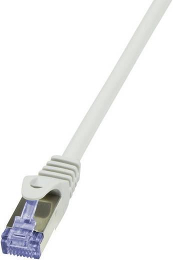RJ45 Hálózati csatlakozókábel, CAT 6A S/FTP [1x RJ45 dugó - 1x RJ45 dugó] 0,25 m, szürke LogiLink