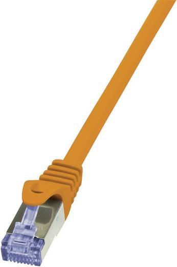 RJ45 Hálózati csatlakozókábel, CAT 6A S/FTP [1x RJ45 dugó - 1x RJ45 dugó] 0,5 m Narancs LogiLink