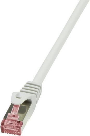 RJ45 Hálózati csatlakozókábel, CAT 6 S/FTP [1x RJ45 dugó - 1x RJ45 dugó] 1,5 m, szürke LogiLink