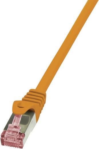 RJ45 Hálózati csatlakozókábel, CAT 6 S/FTP [1x RJ45 dugó - 1x RJ45 dugó] 1 m Narancs LogiLink