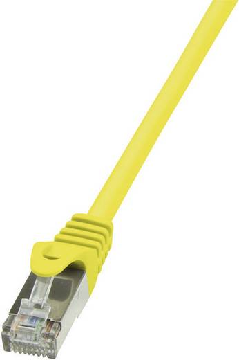 RJ45-ös patch kábel, hálózati LAN kábel, CAT 6 F/UTP [1x RJ45 dugó - 1x RJ45 dugó] 10 m, sárga LogiLink CP2097S