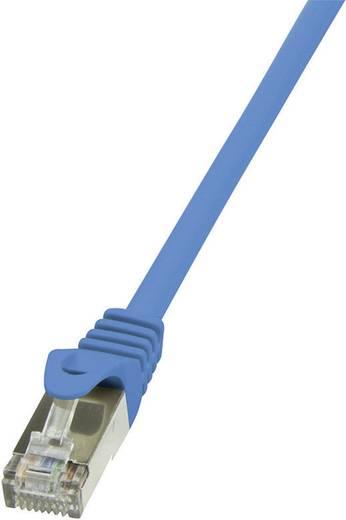 RJ45 Hálózati csatlakozókábel, CAT 5e SF/UTP [1x RJ45 dugó - 1x RJ45 dugó] 0,5 m, kék LogiLink