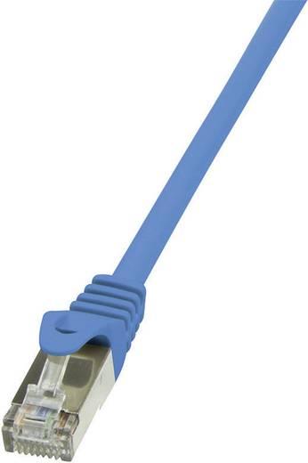 RJ45 Hálózati csatlakozókábel, CAT 5e SF/UTP [1x RJ45 dugó - 1x RJ45 dugó] 7,5 m, kék LogiLink