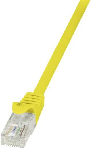 RJ45 Hálózati csatlakozókábel, CAT 5e U/UTP [1x RJ45 dugó - 1x RJ45 dugó] 10 m, sárga LogiLink