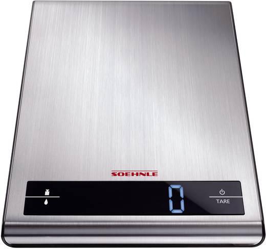 Digitális konyhai mérleg, ezüst, Soehnle Attraction 66171