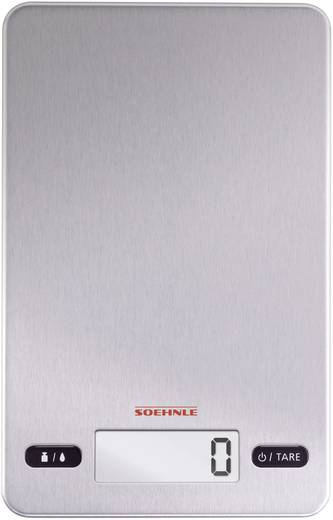 Digitális konyhai mérleg, rozsdamentes acél, Soehnle Page Evolution Steel 66189