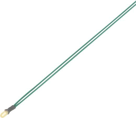 Miniatűr izzólámpa, csatlakozó kábellel 8 V 0.64 W, kék,