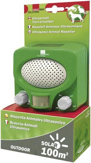 Napelemes ultrahangos állatriasztó, macska- és kutyariasztó, Swissinno 1 231 001