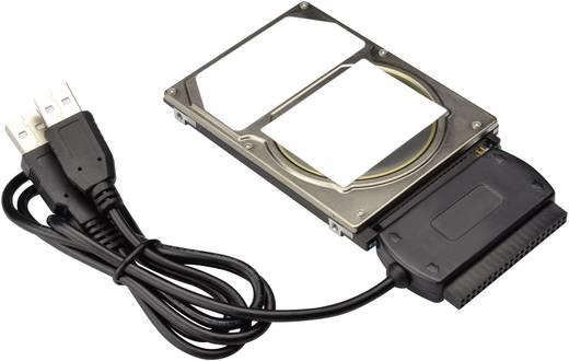 USB kábel 2x USB 2.0 dugó A - 1x 0.50 m fekete Digitus