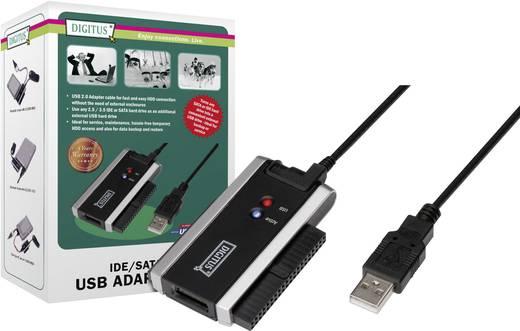 SATA - IDE átalakító, 1x USB 2.0 dugó A - 1x 0.90 m fekete Digitus