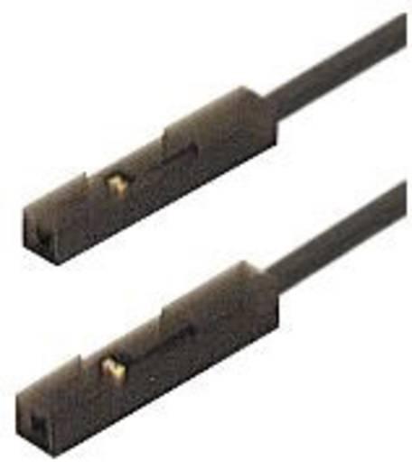 Mérőkábel, mérőzsinór 2db 0,64mm-es csatlakozódugóval 0.25 m, fekete SKS Hirschmann MKL 0,64/25-0,25