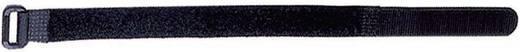 Tépőzáras kábelkötegelő, bolyhos és horgos fél (H x Sz) 304 mm x 19 mm fekete, LappKabel FOL 300-50-0 10 db