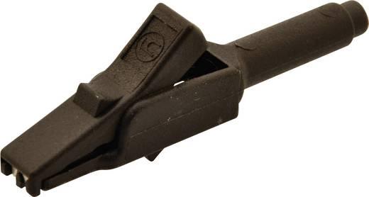 Miniatűr krokodilcsipesz, mérőcsipesz CAT II 300V 4mm-es fekete Sks Hirschmann MA260 SH
