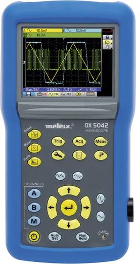Metrix OX5022-CK Kézi oszcilloszkóp (scope-meter) 20 MHz 2 csatornás 50 Msa/s 2.5 kpts 9 bit Digitális memória (DSO), K