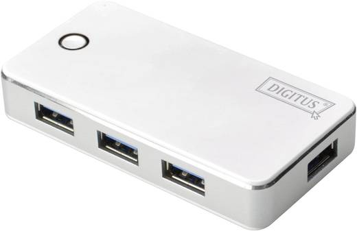 USB 3.0 hub, 4 portos, fehér, Digitus