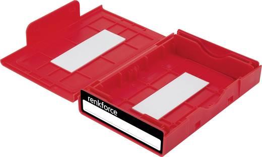 Merevlemez tároló doboz, Renkforce HY-EB-8500 Piros