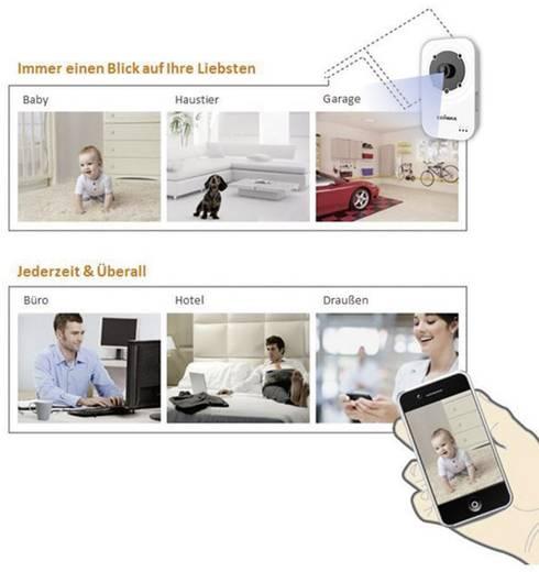 Megfigyelő kamera 720p WLAN H.264 nappali & éjjeli hálózati kamera, (max.) 1280 x 720 pixel, Edimax IC-3116W
