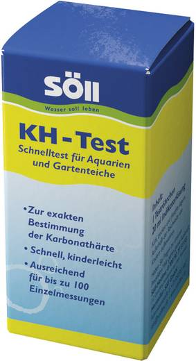 Karbonát keménység KH teszt, kb. 70 teszthez, Söll 14066
