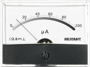 Beépíthető analóg lengőtekercses árammérő műszer 100µA/DC Voltcraft AM-86x65 VOLTCRAFT