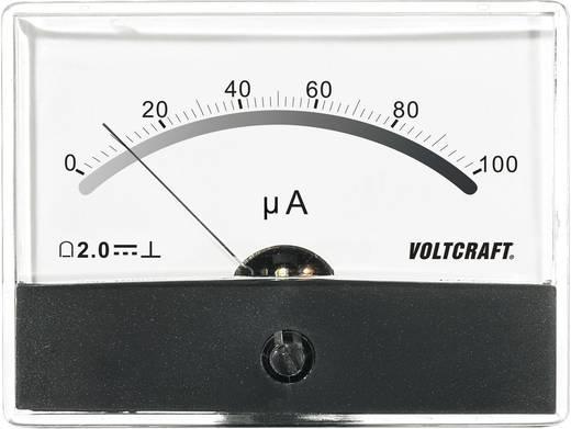 Beépíthető analóg lengőtekercses árammérő műszer 100µA/DC Voltcraft AM-86x65