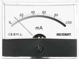 Beépíthető analóg lengőtekercses árammérő műszer 100mA/DC Voltcraft AM-86x65 VOLTCRAFT