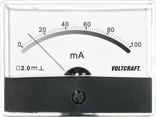 Beépíthető analóg lengőtekercses árammérő műszer 100mA/DC Voltcraft AM-86x65