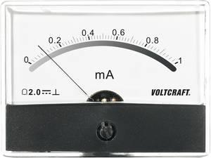 Beépíthető analóg lengőtekercses árammérő műszer 1mA/DC Voltcraft AM-86x65 VOLTCRAFT